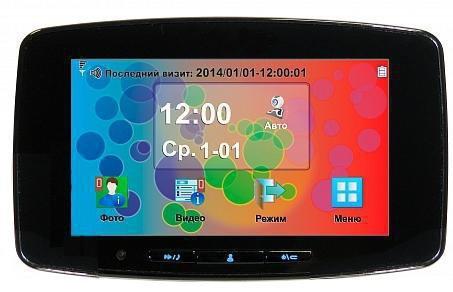 Монитор видеоглазка в корпусе черного цвета