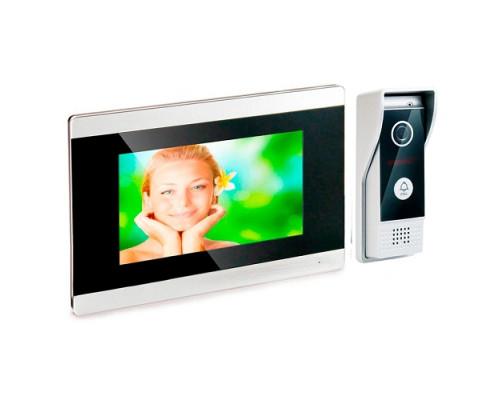Цветной IP видеодомофон «HDcom S-710-IP» 7 сенсорный монитор, с удаленным оповещением через интернет и записью