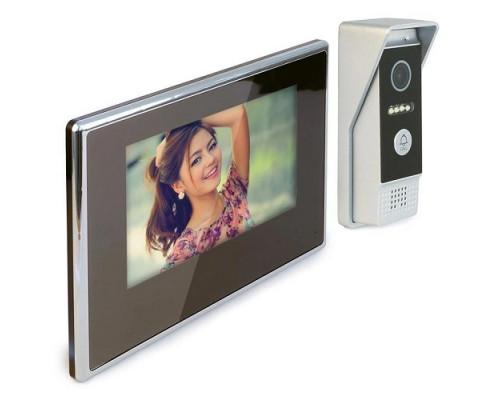 Цветной IP видеодомофон «HDcom S-714-IP» 7″ сенсорный монитор, с удаленным оповещением через интернет и записью