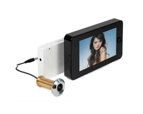 """Wi-Fi видеоглазок """"iHome GLAZ М Black"""" с монитором и удаленным доступом через интернет, запись по движению"""
