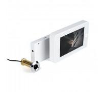 """Wi-Fi видеоглазок """"iHome GLAZ М White"""" с монитором и удаленным доступом через интернет, запись по движению"""